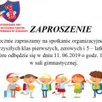Spotkanie organizacyjne przyszłych klas 1, zerowych i 5-latków